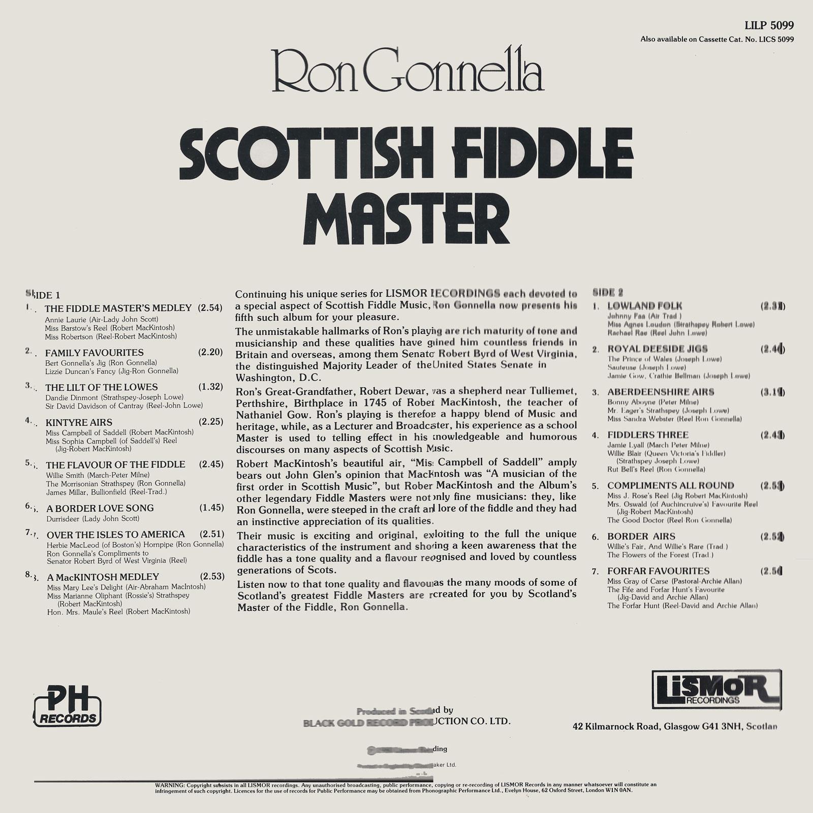 The Music Gatherer Ron Gonnella Scottish Fiddle Master