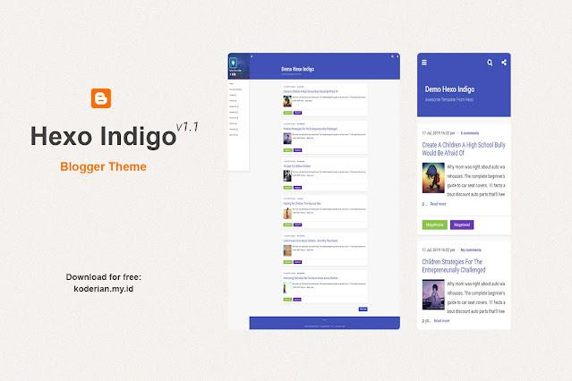 Hexo Indigo Free Blogger Theme