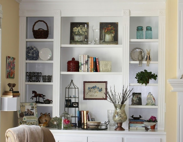 Decoration Ideas For Shelves In A Living Room Modern Home