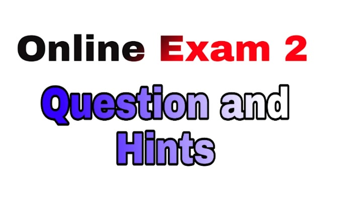 Online Exam 2 Question and Hint