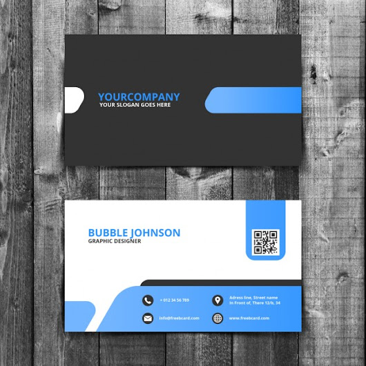 Blue And Black Creative Business Card