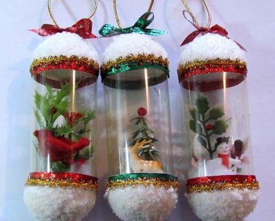 40 Enfeites De Natal Com Garrafa PET