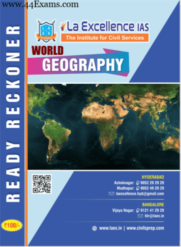 La-Excellence-World Geography-For-UPSC-Exam-PDF-Book
