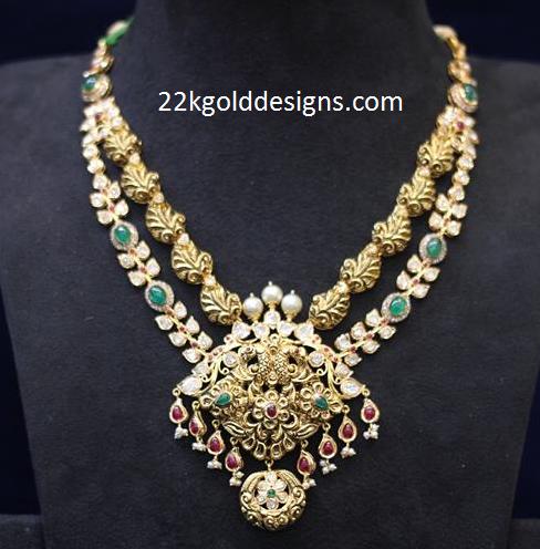 Latest Layered Uncut Diamond Necklace