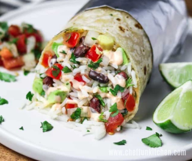 Chipotle Vegan Burrito With Cilantro Lime Rice
