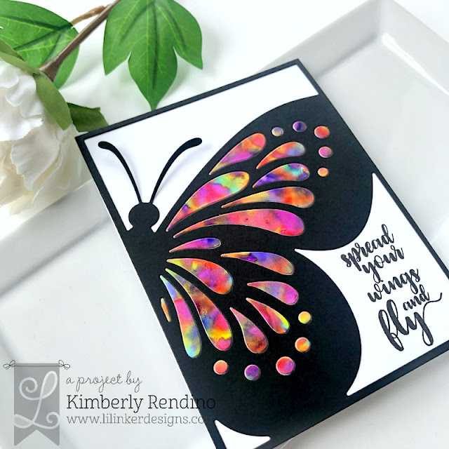 Kimplete Kreativity Blog |  Butterfly Card | Alcohol Ink | May 2019