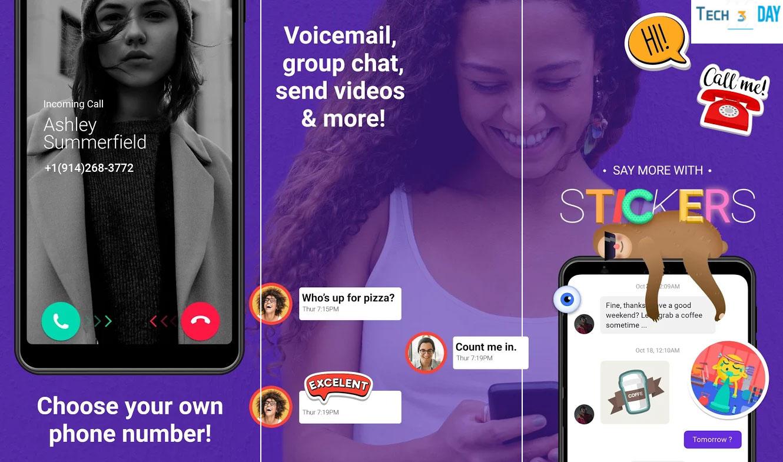 تحميل تطبيق TextNow Premium للحصول على أرقام أمريكية لتفعيل الواتساب