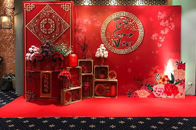 Trang trí backdrop tiệc cuối năm tại Hà Nội