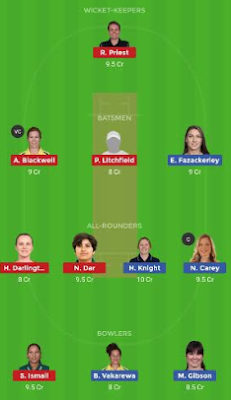 ST-W vs HB-W dream11 team | HB-W vs ST-W