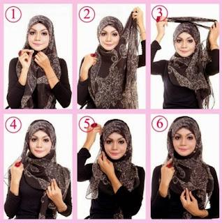 5 Tutorial jilbab Simple Untuk Sehari-hari
