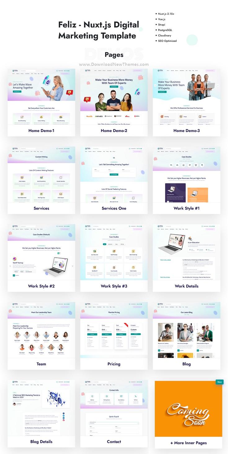 IT & Marketing Site Template