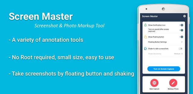 تحميل Screen Master Pro: Screenshot, Photo Markup   برنامج لقطة شاشة احترافي وعالي الجودة للاندرويد