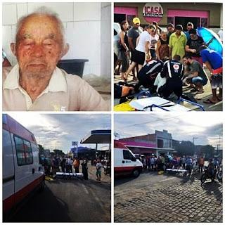 Morre, em Campina Grande, idoso que foi vítima de acidente em Nova Floresta