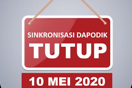 Jadwal Cut Off Singkronisasi Dapodik 2020.b Dan Rilis Dapodik Terbaru