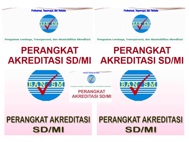 Download Buku Perangkat Akreditasi SD/MI Lengkap Micsoroft Format Words