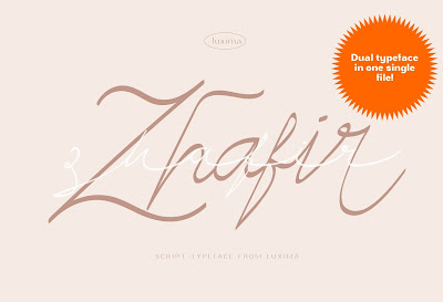 Zhafir Script Font - Modern script with dual face
