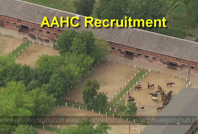 AAHC Recruitment