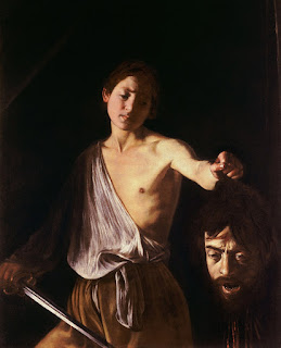 David with the Head of Goliath (or David and Goliath) by Michelangelo Merisi da Caravaggio, c.1610 in Galleria Borghese, Rome