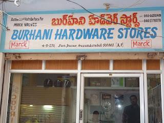Burhani Hardware stores secunderabad