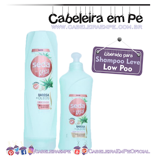 Condicionador e Creme para Pentear Babosa e Óleos - Seda by Rayza Nicácio (Low Poo)