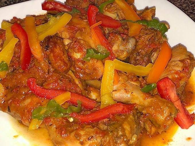 How To Cook Nigerian Peppered Chicken Without Frying: Healthy Nigerian Recipe & Video