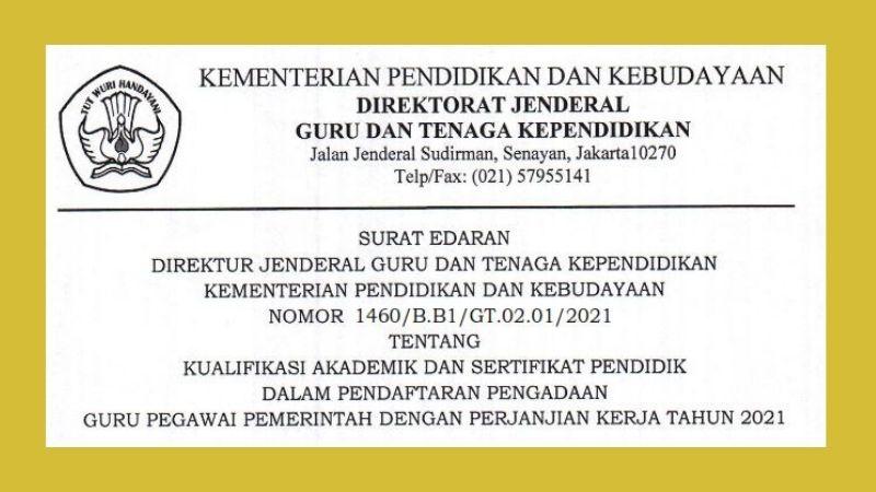Kualifikasi Akademik dan Sertifikat Pendidik dalam Pendaftaran P3K Tahun 2021