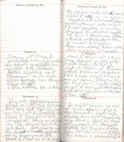 Page from Wesley Hunt's 1936 diary