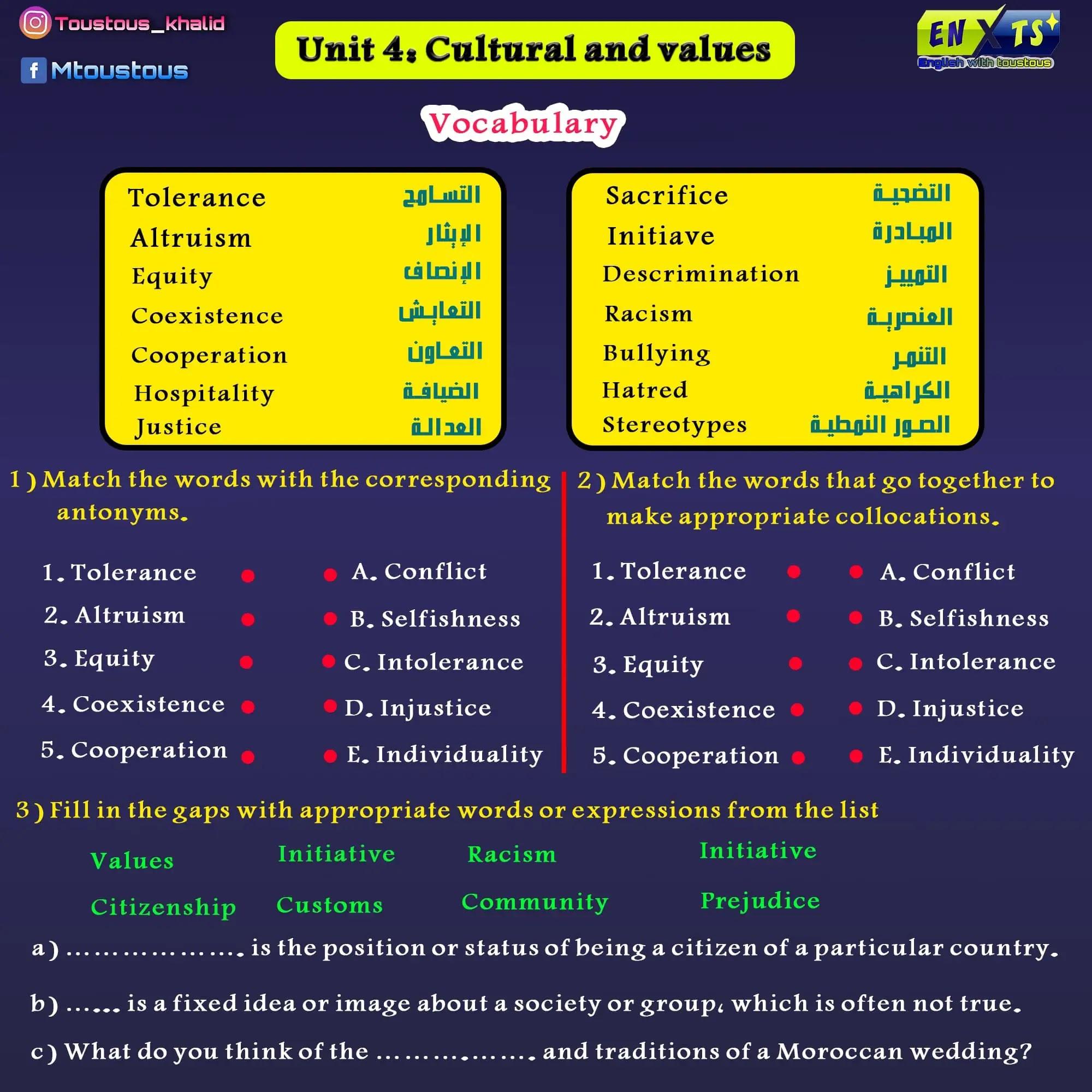 unit 4 ciltural and value
