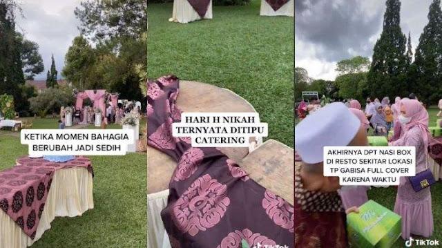 Viral Pengantin Ditipu Pihak Katering saat Nikah Padahal Sudah Bayar Lunas, Pelaku Ngaku Kecelakaan