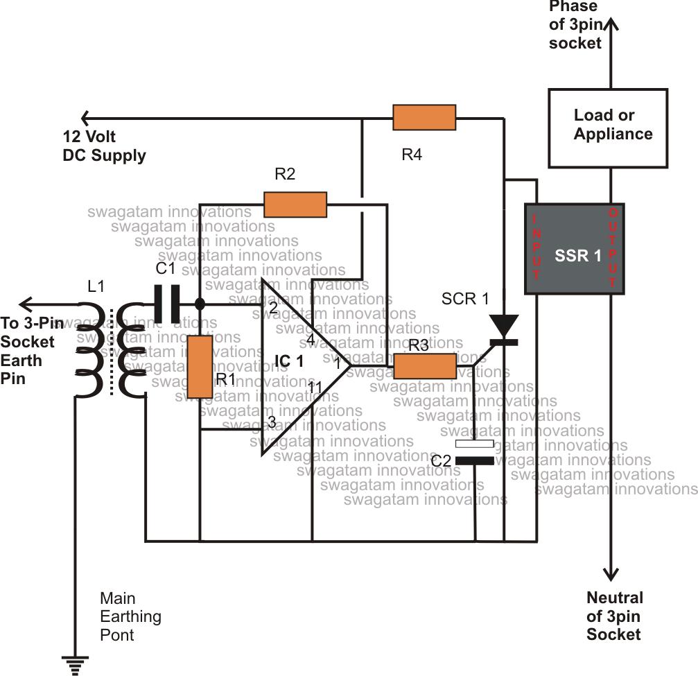 wiring diagram earth leakage circuit breaker
