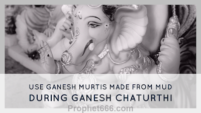 Eco-Friendly and Left Facing Trunk Ganesh Murti for Ganesh Chaturthi