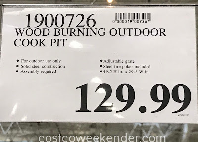 Deal for the Hello Outdoors Outdoor Cooking Pit at Costco
