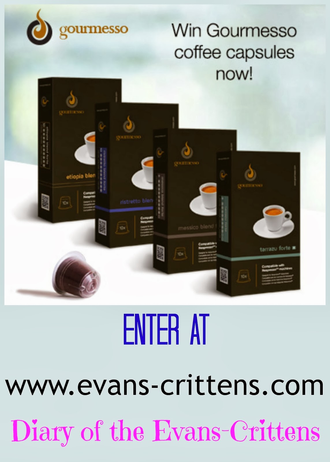 , Win Gourmesso Premium Coffee Capsules Compatible with your Nespresso
