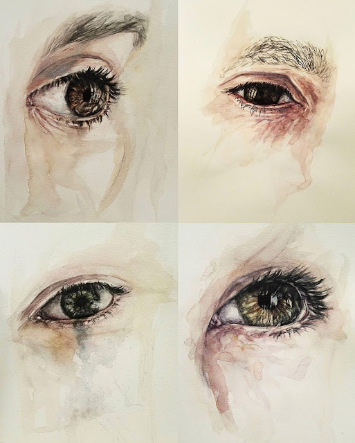 Francesca Roncagliolo, art, eyes