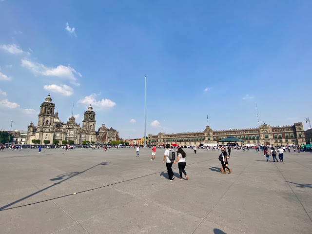 Zocalo, Cathedral & National Palace, Mexico City, Mexico
