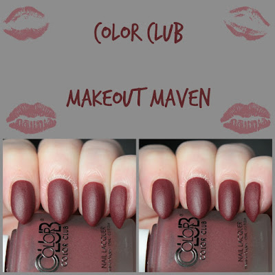 color club matte rouge makeout maven swatch