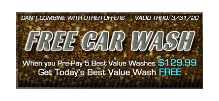 Car wash coupon - pre-pay for 5 get 1 free
