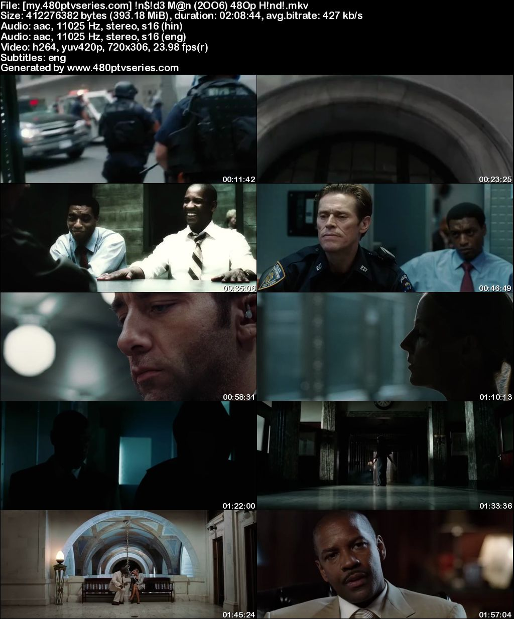 Inside Man (2006) 400MB Full Hindi Dual Audio Movie Download 480p Bluray Free Watch Online Full Movie Download Worldfree4u 9xmovies