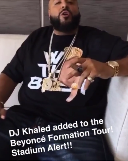 DJ Khaled gets emotional as he is set to tour with Beyonce