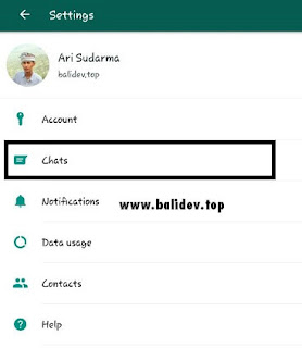 Menu chats pada WhatsApp