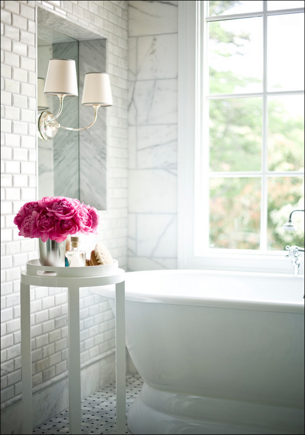 Decor Inspiration A Beautiful Bath {Cool Chic Style Fashion}