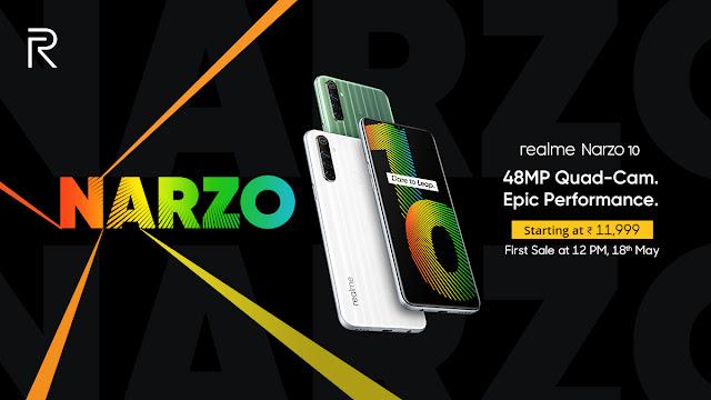 Realme Narzo 10 और Narzo 10A भारत में लॉन्च, जानें कीमत और स्पेसिफिकेशंस