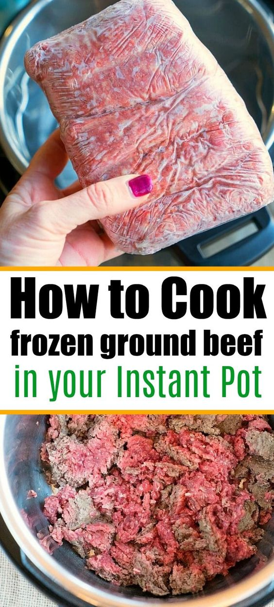 Instant Pot Frozen Ground Beef