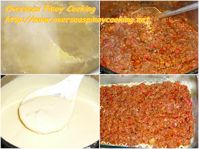 Cheesy Pinoy Lasagna - Cooking Procedure
