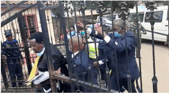 Charity Ngilu lawyers beaten photos at kitui county assembly