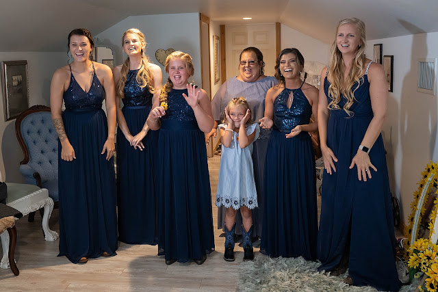 Reaction shot of Bridal Party Magnolia Manor Wedding Photos by Stuart Wedding Photographer Heather Houghton Photography