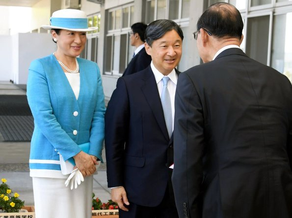 Emperor Naruhito and Empress Masako attended a national festival for marine conservation at Akita