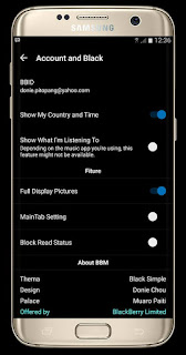 BBM Mod Black Simple V.3.1.0.13 Apk (UNCLONE)