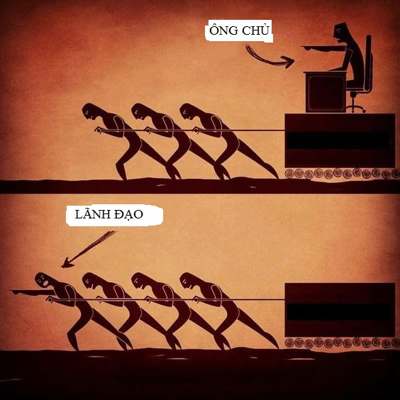 Sự khác nhau giữa lãnh đạo và ông chủ