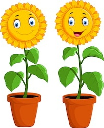 bunga kartun bernyanyi